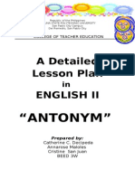 Lesson Plan ANtonyms