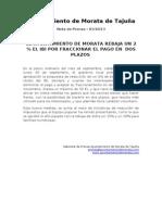 NOTA DE PRENSA DE REBAJA UN 2 % EL IBI