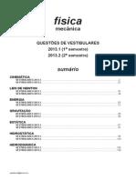 Física - mecânica - questões de vestibulares de 2013
