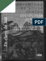 Boaventura de Sousa Santos-Sociologia Jurídica Crítica