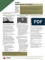 Red Cross Tornado Safety Checklist