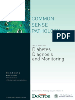 Diabetes Diagnosis and Monitoring, April 2002 Author Peter Colman