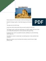 Lion Adaptations