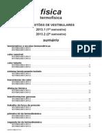 Física - termofísica - questões de vestibulares de 2013