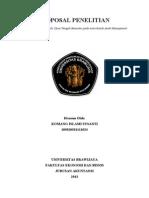 Proposal Penelitian AUMEN Komang I.S 105020301111024 CB