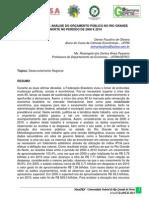 Uma Comparação e Análise do Orçamento Público no Rio Grande do Norte no Período de 2000 e 2010