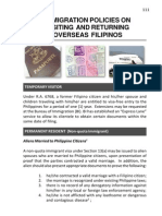 Immigration Policies on Visiting and Returning Overseas Filipinos-ChapterIV(1)