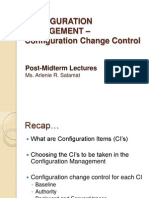 Post Midterm Lecture configuration management