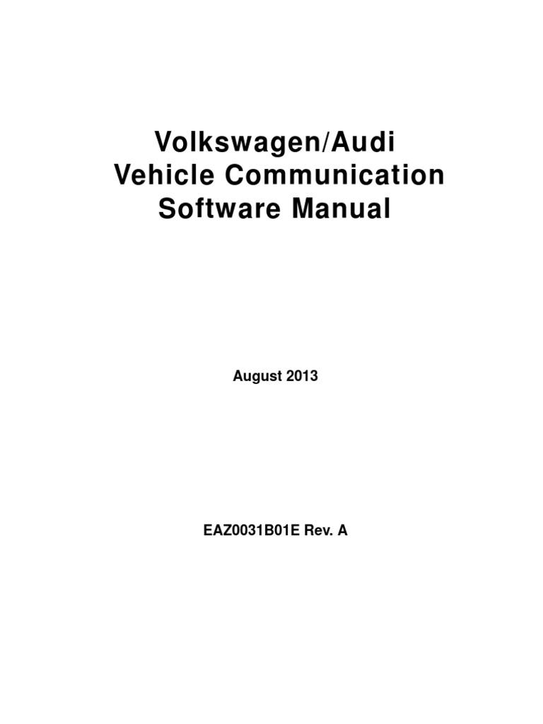 Volkswagen Audi Vehicle Communication Software Manual ...