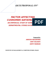 Research Paper on departmental stores in MUMBAI