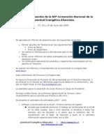 Resumen de Acuerdos Convencion 2009