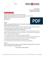 Solicitud de Información sobre transporte de personas y uso de remolques (13/2012)