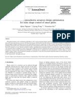 Evolutionary Piezoelectric Actuators Design Optimisation