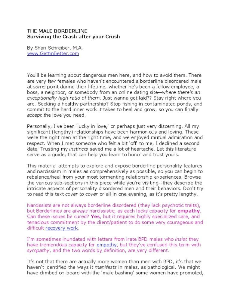 THE MALE BORDERLINE doc | Borderline Personality Disorder