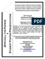 Call for Papers & Student Poster Presentations, 2013 National Association of African American Studies & Affiliates