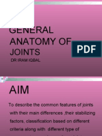 General Anatomy of Joints by dr iram iqbal