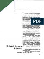 Crítica de la razón dialéctica.. UAM-I 2005