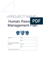 Template Human Resource Management