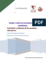 Actividad 1.3 Síntesis de los modelos educativos.