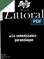 Littoral31-32 La Connaissance Paranoiaque