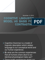 Cognitive Linguistic Model as Basis for Contrasting