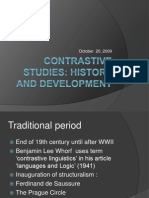 Contrastive Studies-History and Development