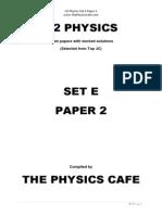 H2 Physics Exam Set E P2