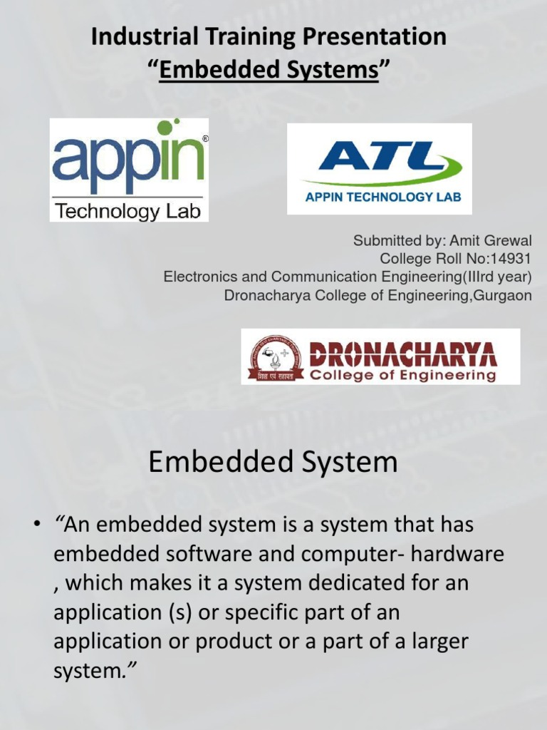 PPT Amit Grewal14931 | Embedded System | Microcontroller