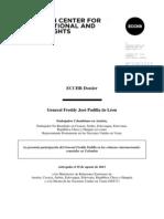 Padilla, ECCHR-Dossier, Es, 2013-10-01