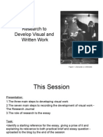 Research to Develop Visual and Written Practice 2013