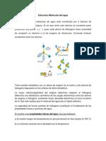 Estructura Molecular Del Agua