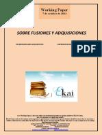 SOBRE FUSIONES Y ADQUISICIONES (Es) ON MERGERS AND ACQUISITIONS (Es) ENPRESEN BATEGITE ETA EROSKETEZ (Es)