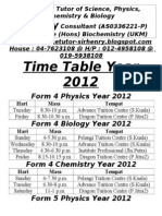Time Table Sir Henry2012 Brochure