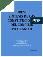 Sintesis de Constituciones Del Vaticano II
