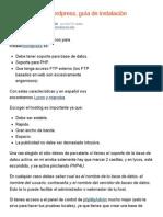 Cómo instalar Wordpress, guía de instalación
