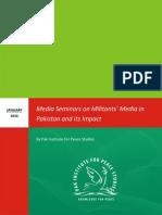 Media Seminars on Militants' Media in Pakistan and its Impact