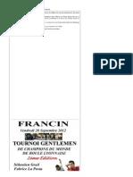 2ème édition du Gentlemen de boule lyonnaise 1