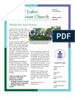 Prayer Newsletter July 2009