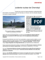 27 Anos Accidente Nuclear Chernobyl
