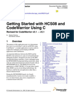 AN2616 Getting Started With HCS08 and CodeWarrior Using C