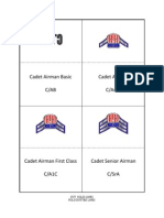 Cadet Rank Cards (2008)