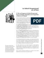 SALUD OCUP.TRABAJO I. Capitulo 3. La Salud Ocupacional en el Perú