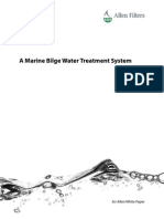 Marine Bilge water treatment system