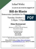 De Blasio Event Oct 1 Woloz