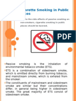 Cigarette Smoking in Public Places presentation