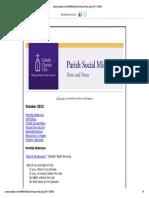 October 2013 Parish Social Ministry News and Notes