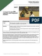 2013 mdg 3 progress report
