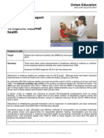 2013 mdg 5 progress report