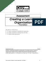 Creating a Learning Organization
