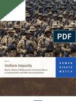 HRW -- Uniformed Impunity